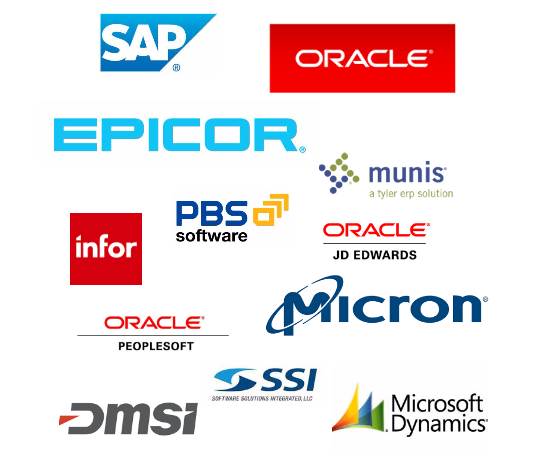 ach payments and credit card payments in sap,quickbooks,JDE : list of ERPs
